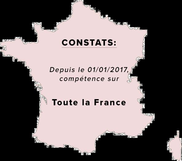 Constat huissier dans toute la France